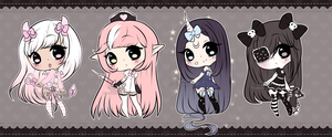 Chibi Mix Adoptables 10 :: CLOSED :: by Hunibi