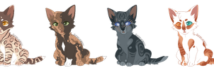 Kitten Adoptables by Simfeny