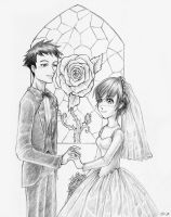 Ouran Wedding Mori and Haruhi by sammich