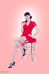 Red Dress and Legs by wbgphotography