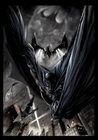 BATS ON GOTHAM - Color Version by UmbertoGiampaArt
