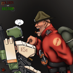 [OverFortress] Soldier and Bastion by MIXSAN