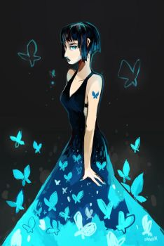 Bluebutterfly by ohmonah