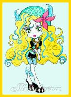 Monster High: Chibi Lagoona Blue. by Shadoru-Flames