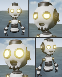 Hoverbot facial expression - ChaosOverride by HyperSnake22