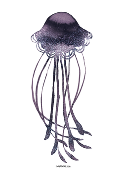 Ink Jellyfish by Myrntai