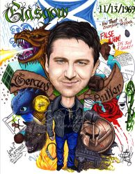 Gerard Butler: Caricature by GeeFreak