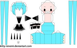 Secret Police miku papercraft by Kitty-Renemi