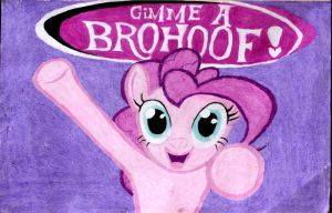 MLP: Everypony! give Pinkie a Brohoof! by Troxist