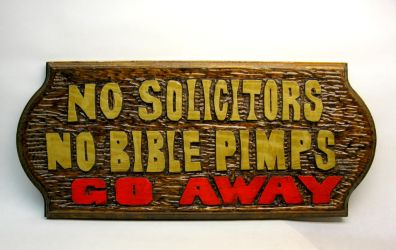 Hand carved door sign by Switchum