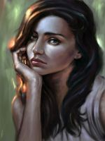 color study face by aynnart