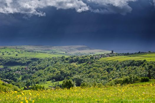 Rainstorm over Heptonstall by jmbroscombe