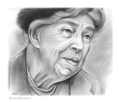 Eleanor Roosevelt by gregchapin