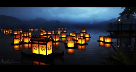 Floating Lanterns by 00AngelicDevil00