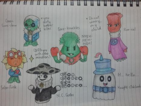 PvZ heroes x Undertale - All Chara(cter)s by anhkhue2004