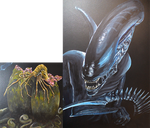 Wallpainting Alien by mooni