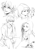 Tokyo Ghoul sketch by Monsohot