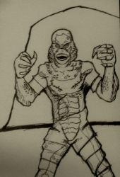The creature from the black lagoon by DavidKrawczykART