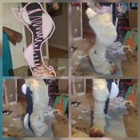Bear Halfsuit Commission WIP: The Legs by RageandRoarCustoms