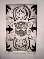 Autobot Copper Etching by msilvestre