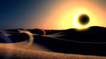 eclipse in the dunes by AbdouBouam