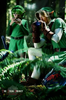 TZP: Link and Saria by Adella