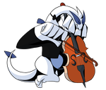 [COLLAB] Lugia playing the Cello! by nuclear-smash