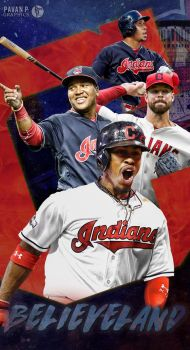Cleveland Indians Phone Wallpaper by PavanPGraphics