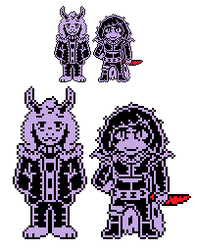Undertale au: SFS!Asriel and chara sprites by Kenny1941
