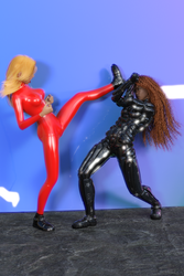 Fight001 by catsuitmodel