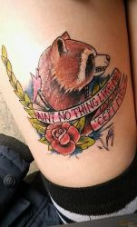 first nice and fresh tattoo of rocket by KokiriGotRupees