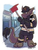 Firefighter Chio (Patreon reward) by bugbyte