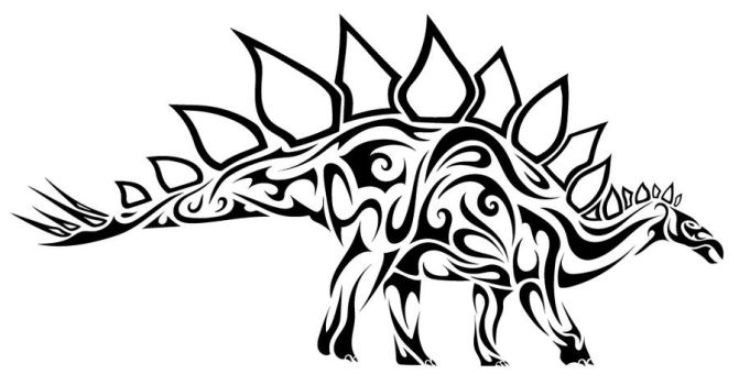Tribal Stegausorus by Dessins-Fantastiques