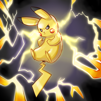 Pikachu uses Thunder! by Imalune