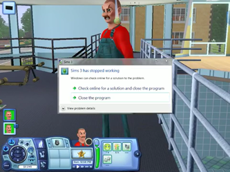 Sims 3 Has Stopped Working by SpecialsDong