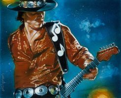 Stevie Ray Vaughan by JeffLafferty