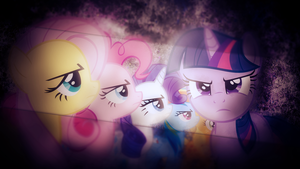 Request: Mane 6 Wallpaper by SandwichDelta