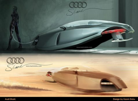 : audi fetish car illistration by kazimdoku