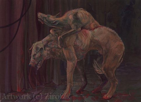 Demikhov's Two Headed Dog by zirofax