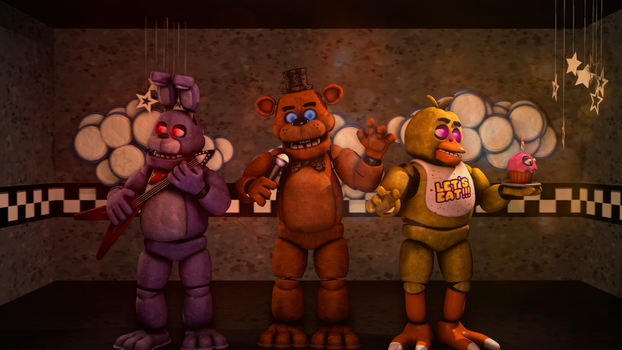 The Gang [FNAF1] by Thunderbolt8361