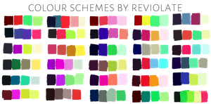 free to use colour schemes by revioLATE