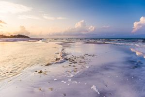 UNRESTRICTED Dreamscape Beach Background Stock by little-spacey