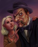 Gangster and his sweetheart by KatLouhio