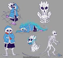 Gaster Blaster!Sans #2 by DiamondwolfART