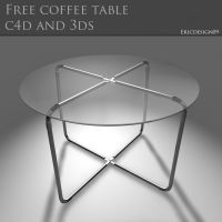 free coffee table c4d and 3ds by 3DEricDesign