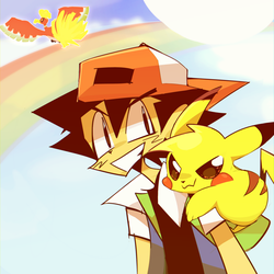 hash and pikachu by horroir