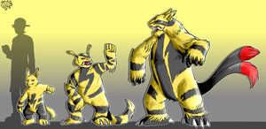 PdP:: Elekid, Electabuzz and Electivire