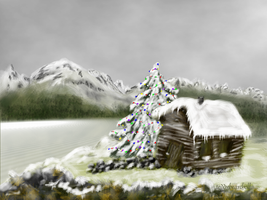 Christmas Mountain by teddybearcholla