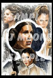 Princess Leia by ArtistAJMoore by GudFit