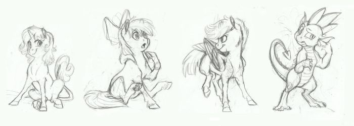 AU Doodle- The CMC by Earthsong9405
